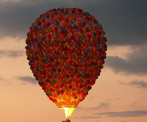 balloons, up, and sky image