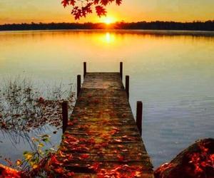 bridge, lake, and day image