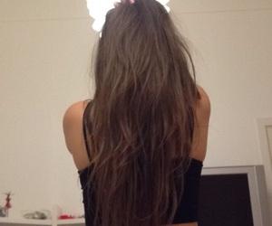 brown, long, and hair image