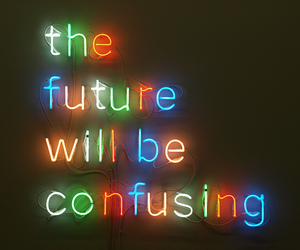 future, confusing, and light image