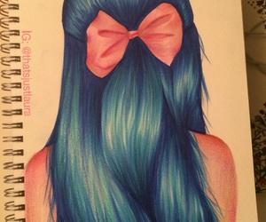 hair, art, and bow image