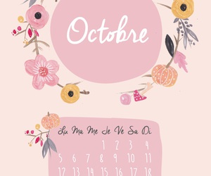 calendar, october, and planner image