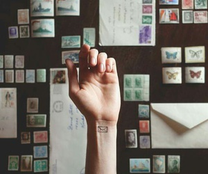 letters, Tattoos, and small tattoos image