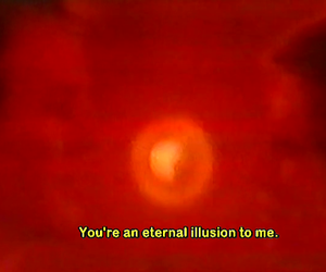 illusion, red, and eternal image