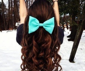 beautiful, bow, and curls image