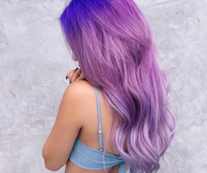 fashion, long, and purple image