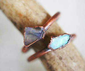 jewelry, rings, and opal image
