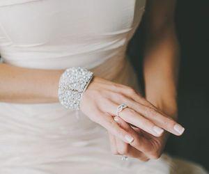 wedding, bracelet, and bridal image