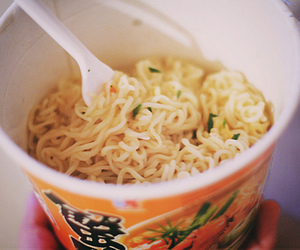 delicious, noodles, and food image