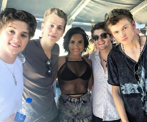 demi lovato, the vamps, and james mcvey image