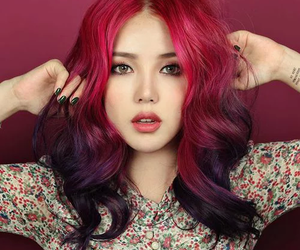 hair, pony, and park hye min image
