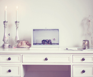 laptop, room, and white image