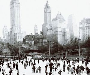 winter, new york, and skating image