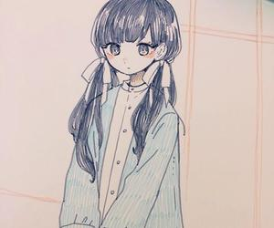 anime, drawing, and watercolor image