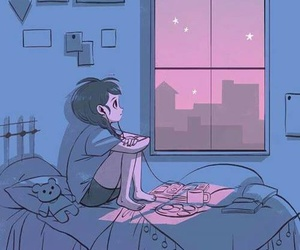 night, alone, and music image