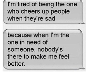 sad, tired, and quote image