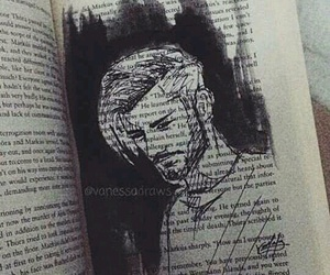zayn malik, book, and drawing image