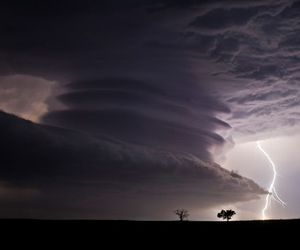 cloud, pretty, and lightning image