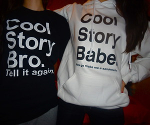 bro, cool story bro, and black image