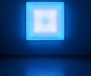 art, exhibition, and blue image