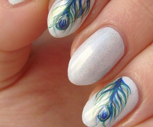 shine and white nails image
