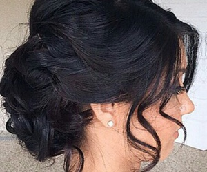 hair, hairstyle, and updo image