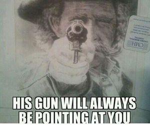 funny, gun, and lol image