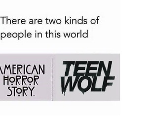 teen wolf, american horror story, and ahs image