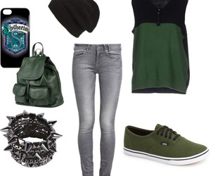 fashion, green, and harry potter image