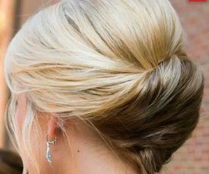 hair, updos, and hairstyle image