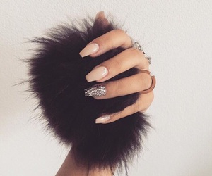 nails, fur, and girl image