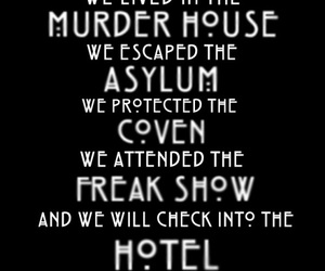 american horror story, asylum, and murder house image