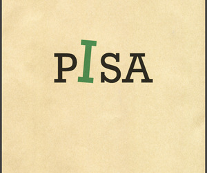 Pisa and typography image