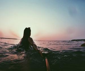 beach, boho, and girl image