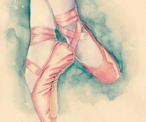 ballet, pink, and draw image