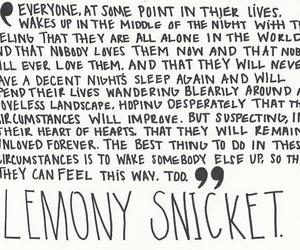 quote, lemony snicket, and text image