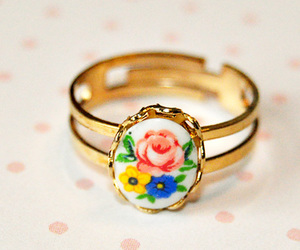 antique, flowers, and french image
