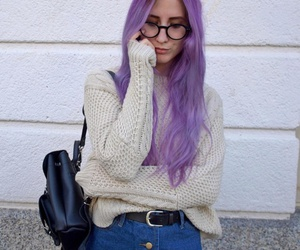 outfit, purple, and grunge image