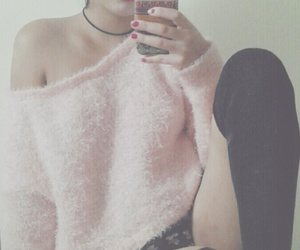 girl, indie, and lips image