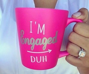 ring, pink, and engaged image