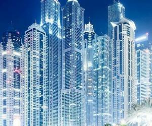 Dubai, city, and light image