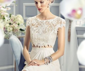 wedding dress, bride dress, and bride gowns image