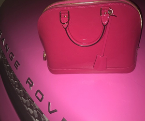bag, car, and pink image