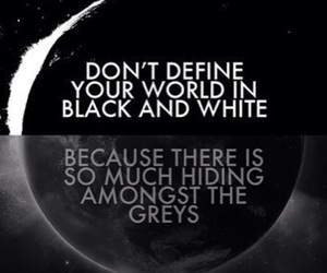 quotes, grey, and black image