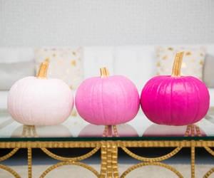 pumpkin, Halloween, and pink image