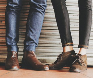 autumn, boots, and boy and girl image