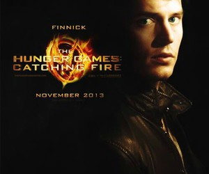 katniss, finnick, and thg image