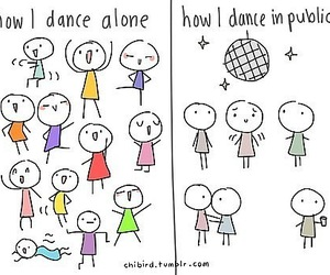 dance, funny, and alone image