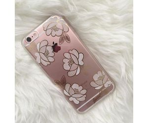 flowers, rose gold, and iphone image