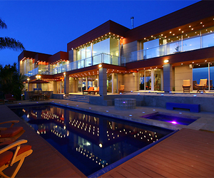 house, luxury, and light image